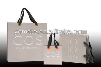 Light Purple Cos Brand Collection Of Style Luxury Paper Ping Bag With Ribbon Handle For Cosmetic