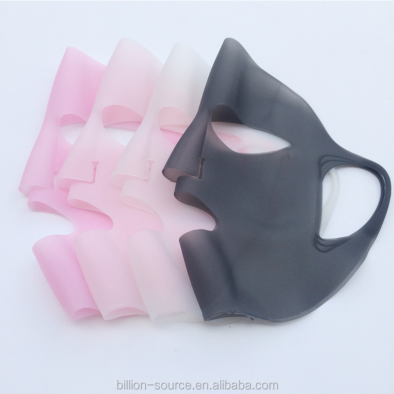 Reusable woman facial mask in silicone Prevent Water Evaporation