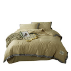 Fiber Fashion English Woven Tape Bed sheet Light Tan Comforter 100% cotton Printed Home Textile Bedding Sets