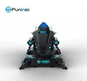Hot sales FuninVR mecha Style arcade game machine virtual reality simulation ride 9d vr racing car simulator
