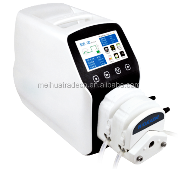 BIOBASE Intelligent Flow Rate Peristaltic Pump with 4.3 inch color LCD display, touch screen control