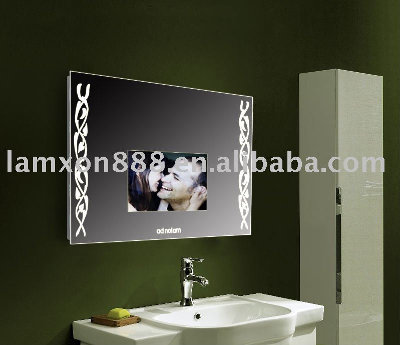 Bathroom TV Mirror with Lighting