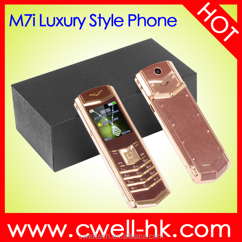 Unlocked 1.77 inch quad Band Glass Keyboard Metal Body Luxury gold color mobile phone
