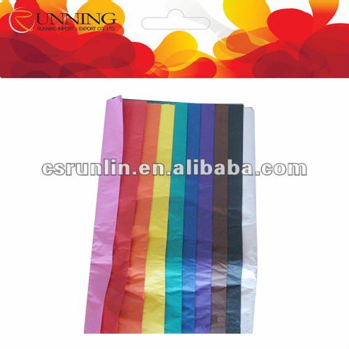 various colors gift wrapping tissue paper for t-shirt and shoes and jewelry