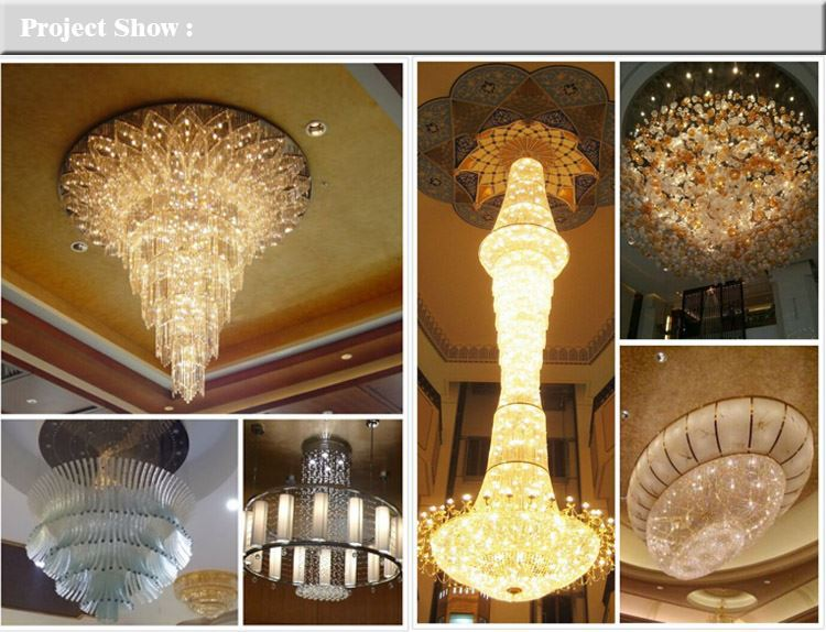 Newest Designs Customized hotel designs 2017 big rectangular oval crystal lamps chandelier