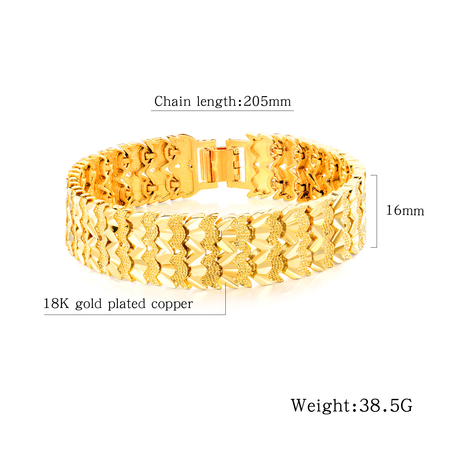 Newly Listed Luxury Bracelet Jewelry Plated 24k Gold Stainless Steel Luxury Bracelet