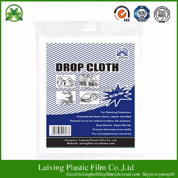 Hot sale high quality paint drop sheet paint cover sheet plastic drop cloth