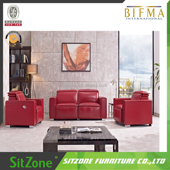 Luxury Style Solid Wood Frame Leather Sofa Set S69