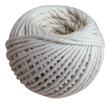 Natural color 3 strand Cotton  twisted rope twine