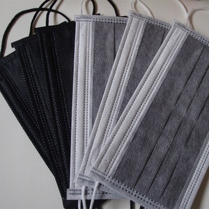 Disposable Non-woven 4ply Active carbon charcoal filter Medical Surgical black Face Masks with earloop custom design