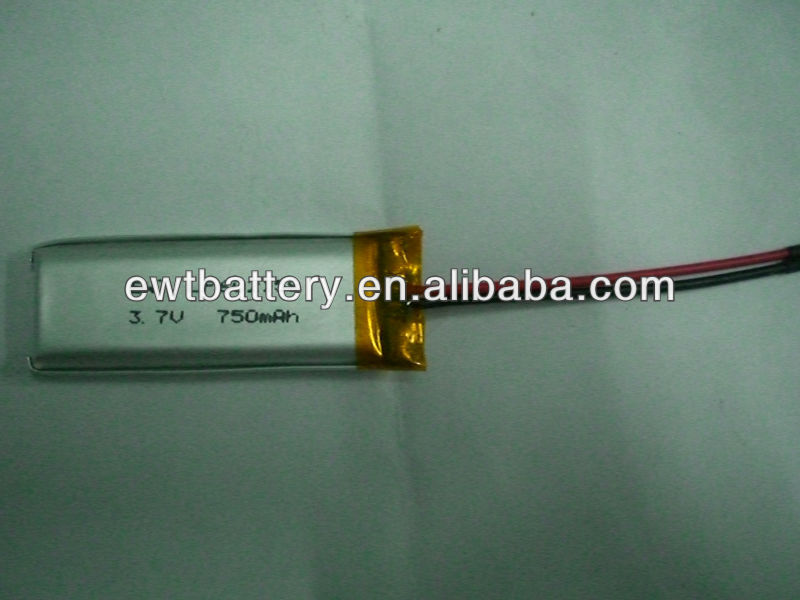 LP602158 3.7V 750mAh for Bluetooth,Mp3,Mp4,Gps,E-book,Notebook,DVD
