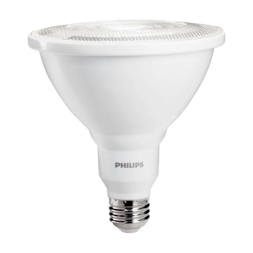 Philips LED Non-Dimmable PAR38 25-Degree Spot Light Bulb: 1000-Lumen, 5000-Kelvin, 11-Watt (90-Watt Equivalent), E26 Base, Daylight, 4-Pack