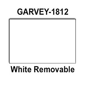 280,000 Garvey 1812 compatible White Removable Labels to fit the G-Series 18-5, G-Series 18-6, G-Series18-7 Price Guns. Full Case + includes 20 ink rollers.