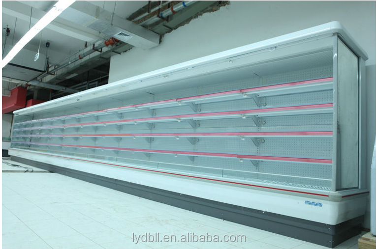 Supermarket requirement open-front chillers showcase freezer/open air cooler FA series