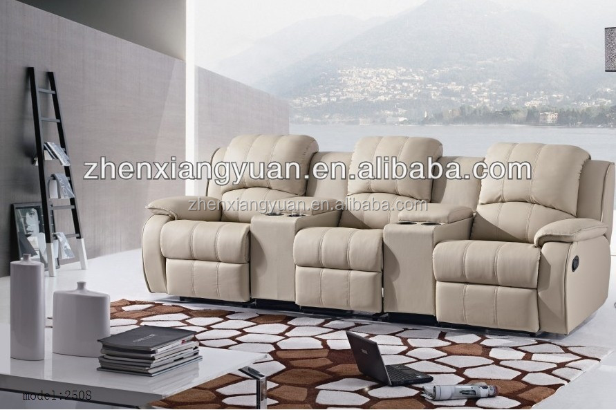 Puissance salon canap home cin ma fauteuil inclinable en for Canape home cinema