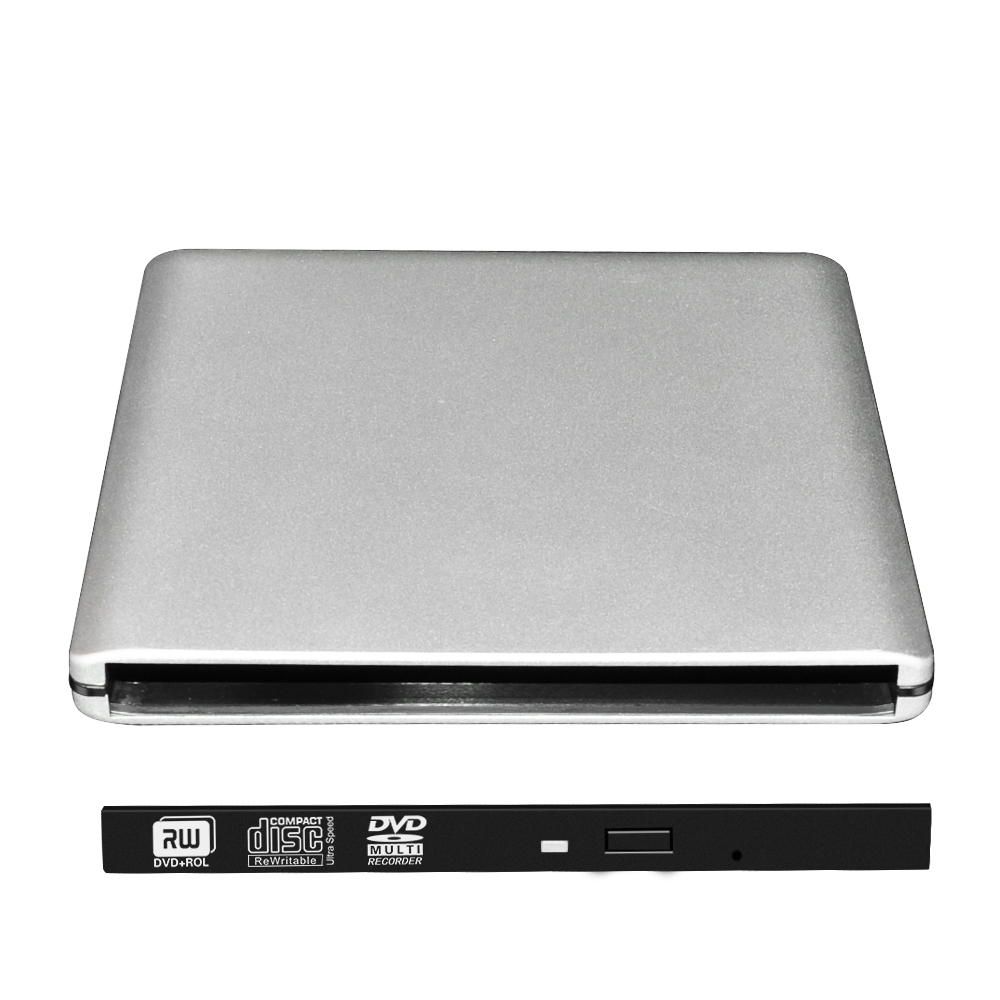 OEM Manufacture Type-C TO SATA 9.5mm SATA External DVD RW Optical Drive Case