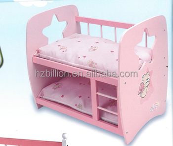 Personality 18 Inch Doll Cot Wooden Baby Bunk Bed Furniture