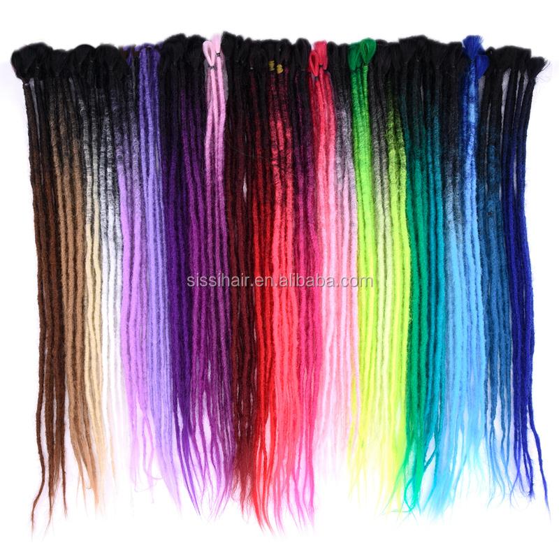 New Arrival Faux Locs Dreads Foe Dreadlocks Hair Braids Synthetic