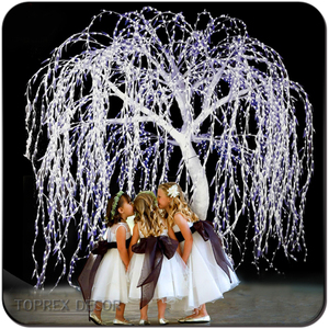 Wholesale quality led lighted artificial white willow tree for wedding