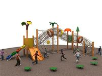 Latest product excellent quality kids outdoor wooden playground equipment