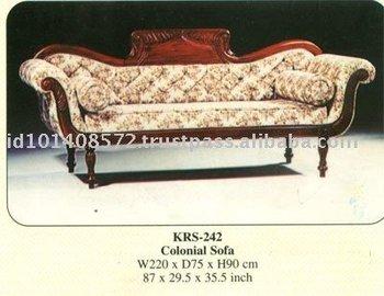 Colonial Living Room Sofa Mahogany Indoor Furniture
