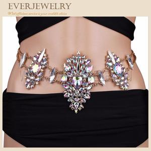 rhinestone body jewelry chain body jewelry