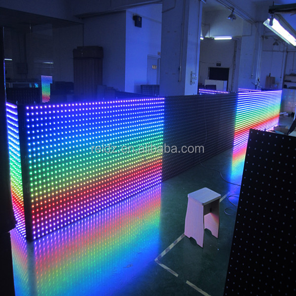 Led Wall Dj Light: Dmx Led Modules Display Screen 12mm Rgb Led Pixel Light
