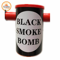 3 minutes Chinese Black Colored Smoke Fire Bomb Fireworks