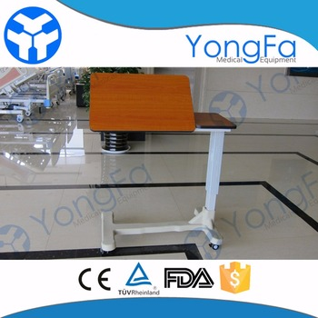 YFT 001 Hospital Tray Table With Wheels Hospital Food Table