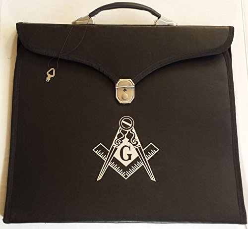 6f49e0c91c11 Masonic Regalia Black File Case For WM/MM Apron with Hard Handle & G Logo