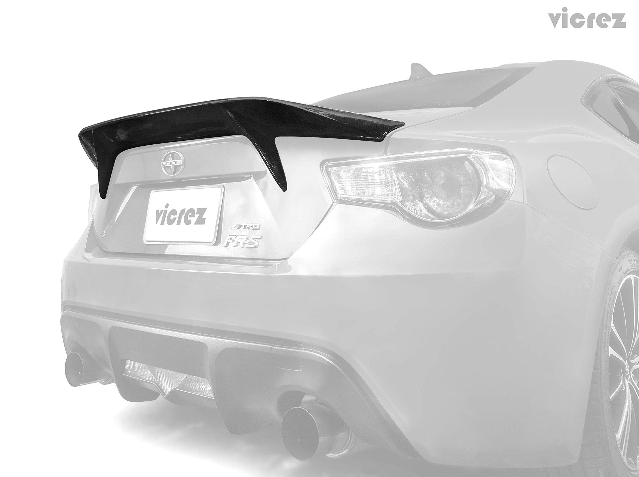 Vicrez Scion FRS / Subaru BRZ 2013-2016 Ducktail VZ1 Carbon Fiber Rear Wing Spoiler - vz100464