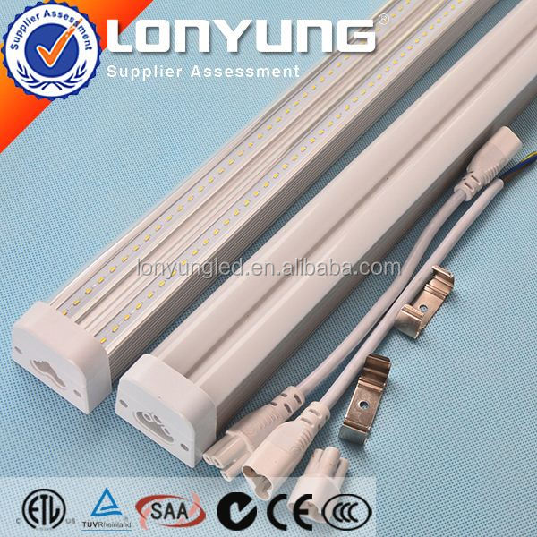 Linear T5 LED Integrative Double Tube 1-8ft 8-60w t5 atomizer e cigarette ETL DLC TUV SAA