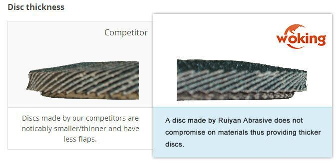 Ceramic flap disc for stainless steel