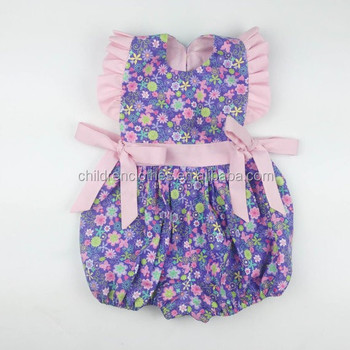 b125c1cfcc67 Baby girl floral romper girls printed frock designs fashion reamke kids  clothes