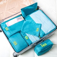 Fashion Factory Custom LOGO Lightweight Travel Luggage Organizer Waterproof 7pcs Compression Packing Cubes