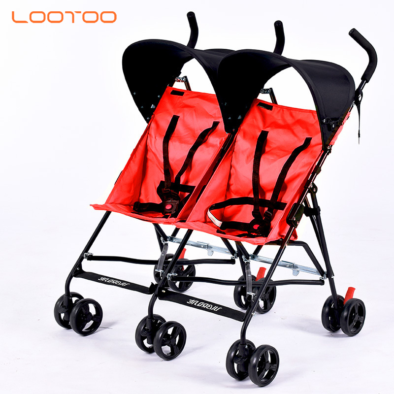 China manufacturer supply high quality best cheap price aluminum alloy double twin baby stroller