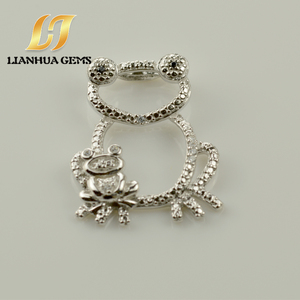 Buy direct from china factory frog shape 925silver gemstone necklace pendant .
