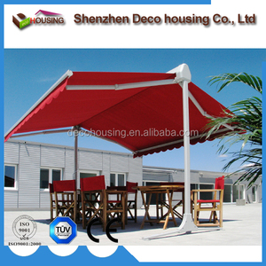 Motorized free standing retractable awning/outdoor double sides awning for sunshade