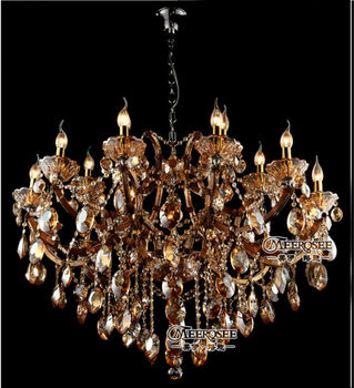 Modern House Luxury Crystal Chandelier Glass Lighting Candle Holder ...