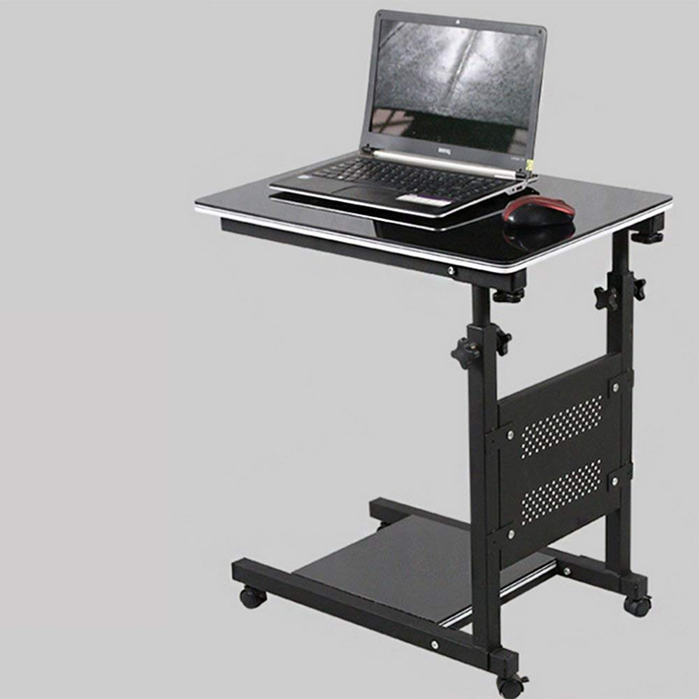 LQQGXL Storage and organization Removable laptop bed table lazy folding desk black paint
