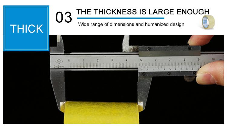 Nuevo diseño impermeable cinta adhesiva impresa del embalaje del opp sellado adhesiva en el precio al por mayor