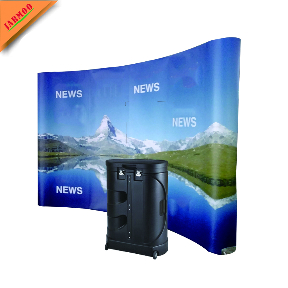 Eine Person Installieren Logo Druck Magnetic Pop Up Display Stand Banner Steht