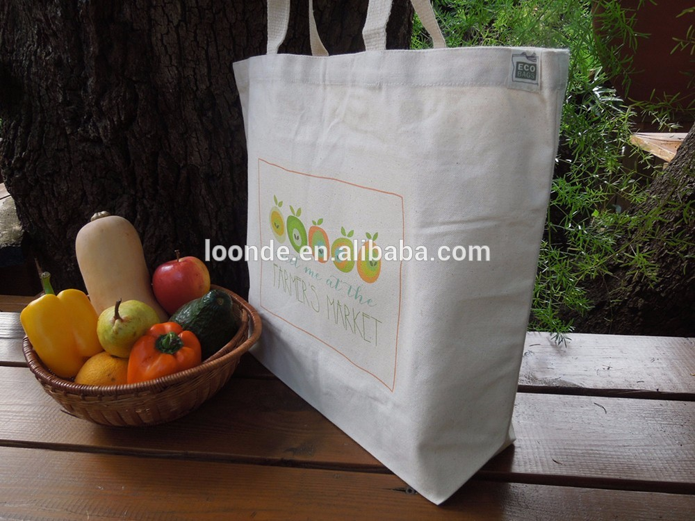 Eco friendly Reusable 3 pack 100% Natural Cotton Grocery Shopping Bag Spacious large bag with smart compartments and shoulder