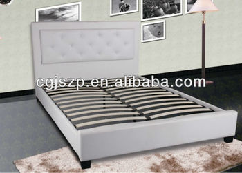Double Size White Faux Leather Bed Frame Buy Unique White Leather