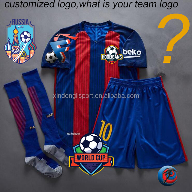 customized soccer jersey set