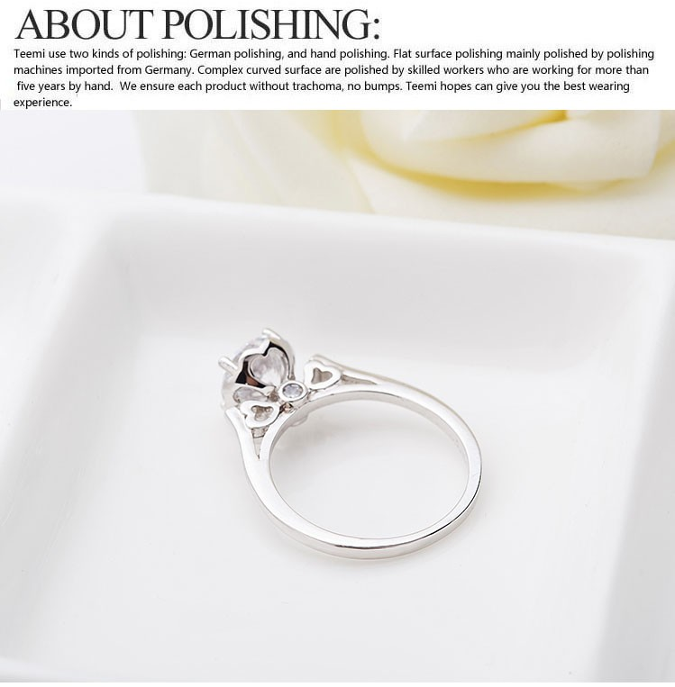 Luoteemi Charming Accessories Endless Love Heart Shaped 18k White Gold Silver