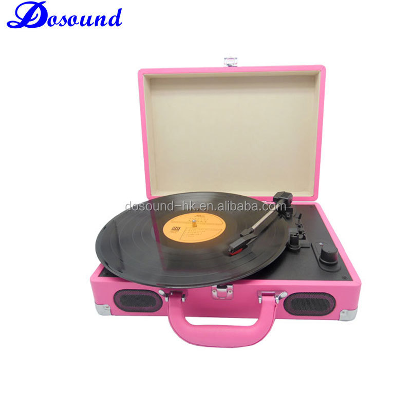 Charming Briefcase Chic!!! Automatic Turntable&Vinyl Record Player