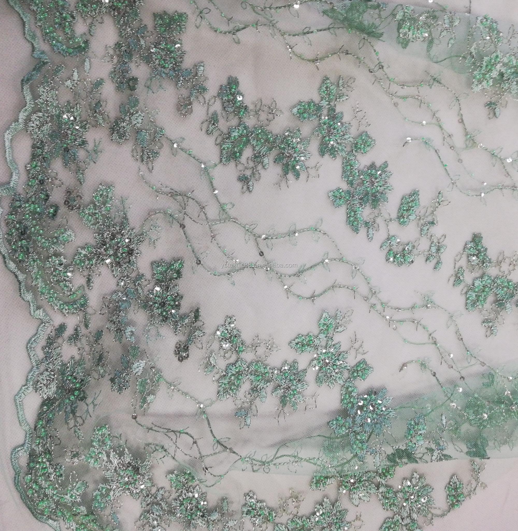Spiksplinternieuw Haute Couture Wit Groen Blauwe Handgemaakte Kralen Stoffen TE-56
