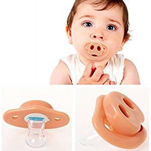 [Free Shipping] New Funny Novelty Baby Infant Pig Nose Pacifier Teether Teeth Child Lip Soother // Nuevo bebé divertido novedad cerdo lactante nariz chupete mordedor dientes el labio niño chupete