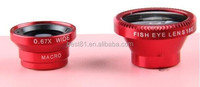 Mobile phone & accessories 3 in 1 Universal Clip Fisheye Lens for Phone Novel gifts
